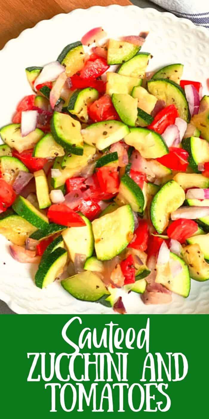 Zucchini and Tomatoes side dish