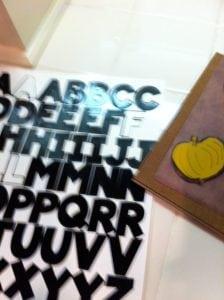 paint chips letters