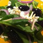 Spinach and Blackberry Salad with Vinaigrette Dressing