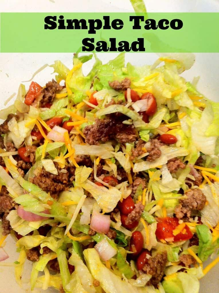 Simple Taco Salad that you can make ahead - perfect for packing on the go!