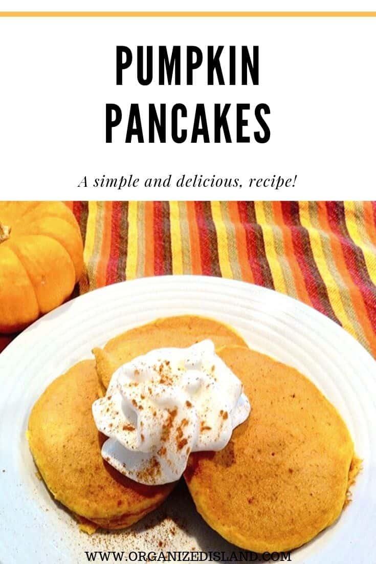 Easy pumpkin pancakes recipe