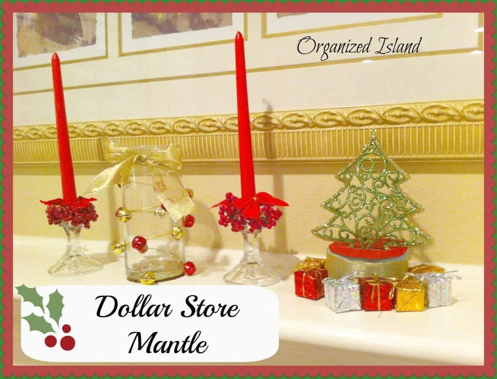 Dollar Store Mantle from Organized Island