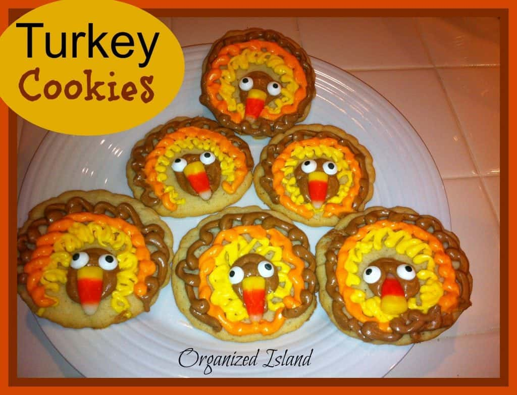 Thanksgiving desserts -Easy Thanksgiving Turkey cookies