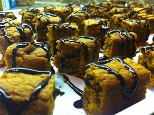 Pumpkin Blondie Bites
