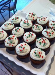 Sprinkles on cupcakes
