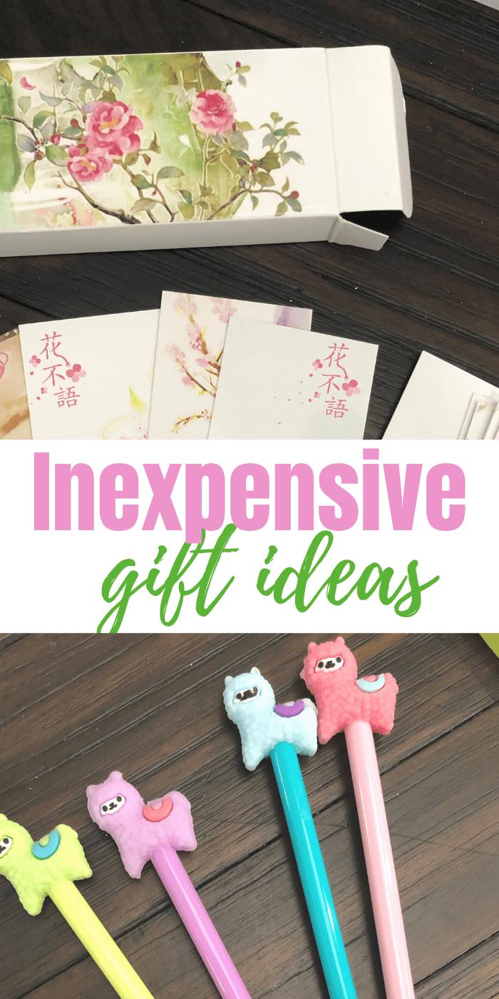 Inexpensive gift ideasn