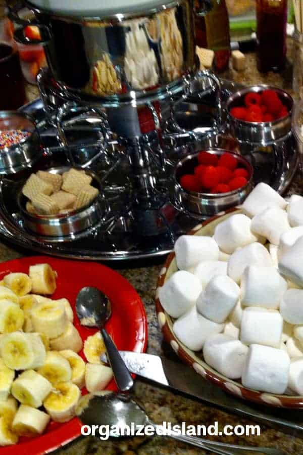 Organizing a fondue party