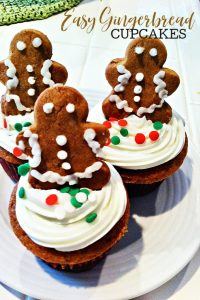 Easy Gingerbread Cupcakes