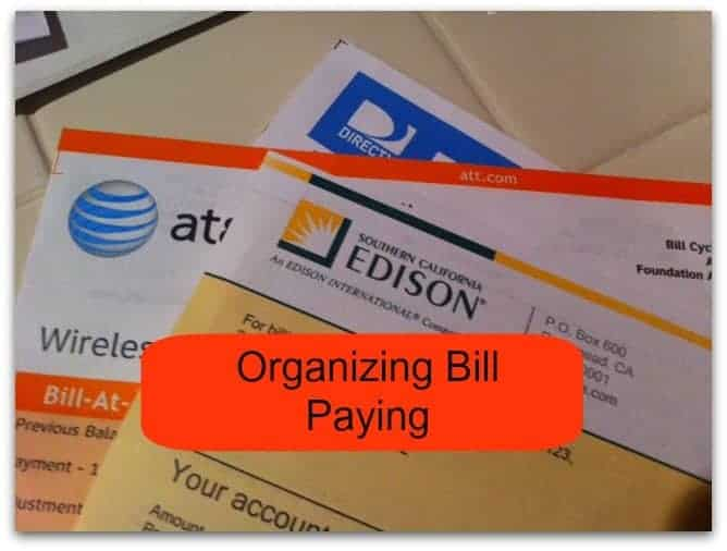 Organizing Bill Paying