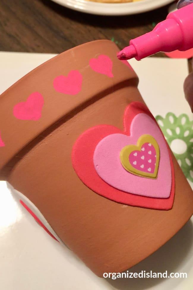 heart flower pots