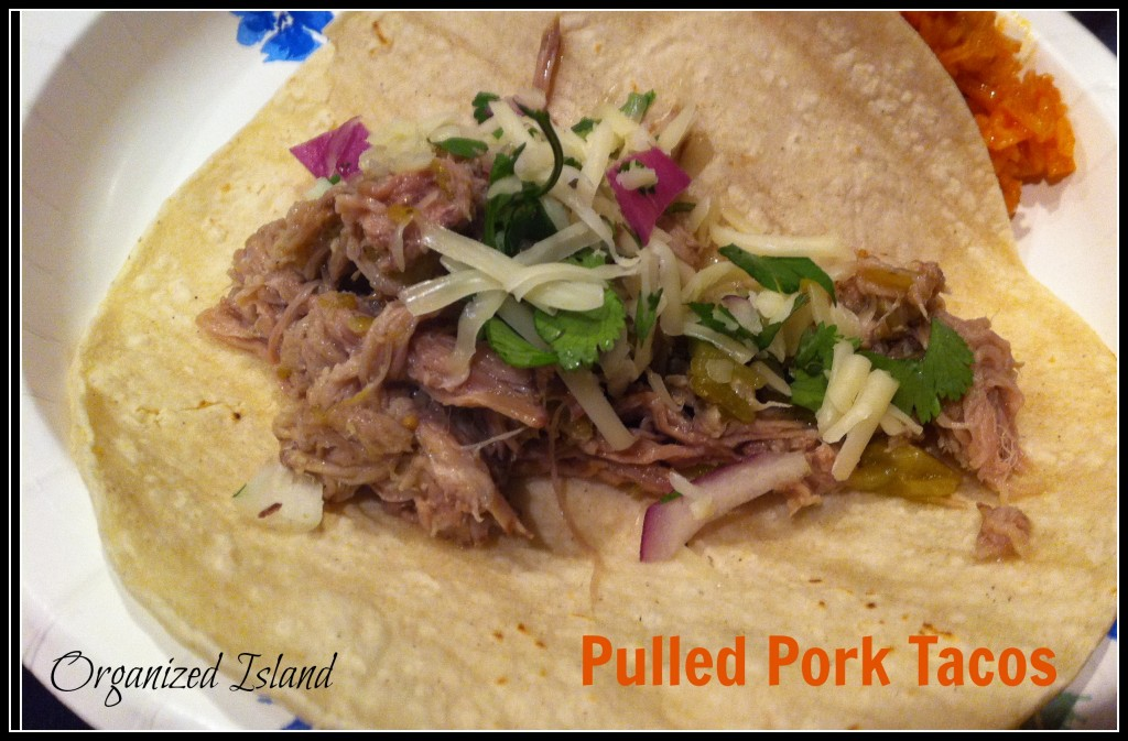 pork roast, easy tacos