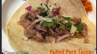pork roast, easy tacos