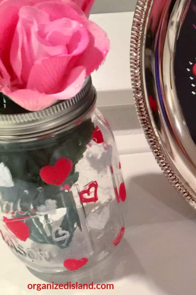 Valentines mason jar