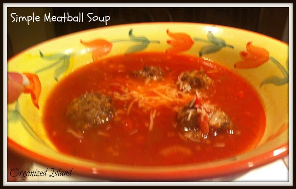 Simple Meatball Soup #Easy Dinner #soup