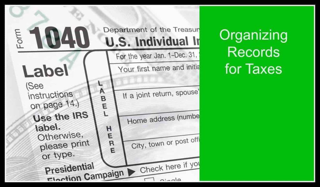 Organizing Tax Records