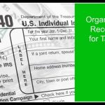 Organizing Tax Records