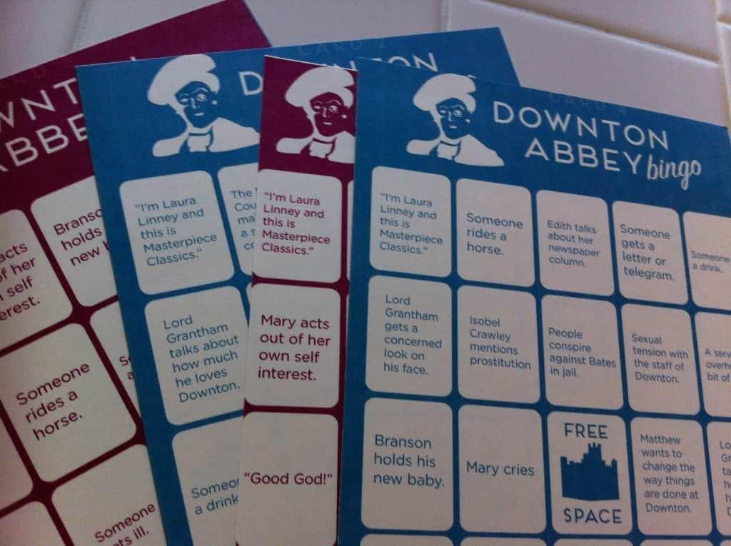 Downton Abbey Bingo