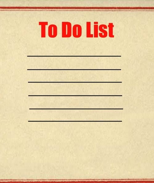 Managing Your To Do List