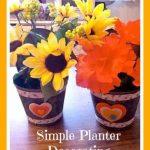 Spring Decor Craft: Decorating Planters