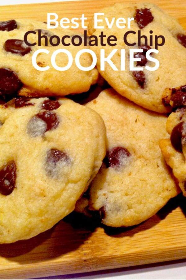 just baked chocolate chip cookies