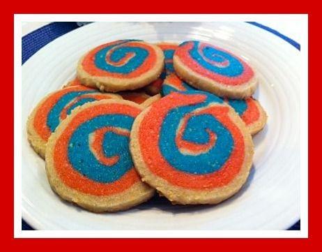 4rh of July Pinwheel Cookies