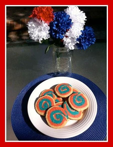 4th of July Cookies, Patriotic pinwheels #cookies #4thofJuly