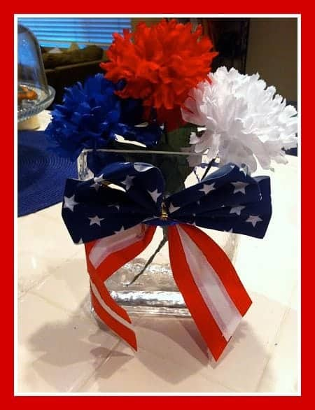 Simple 4th of July Flowers