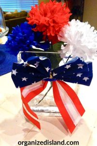 red white and blue decor