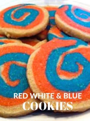 Red white Blue Pinwheel cookies