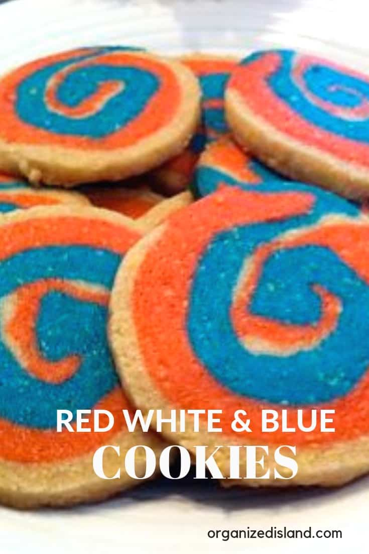 Red white Blue Pinwheel cookies
