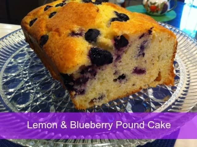 Easy Lemon Blueberry Pound Cake