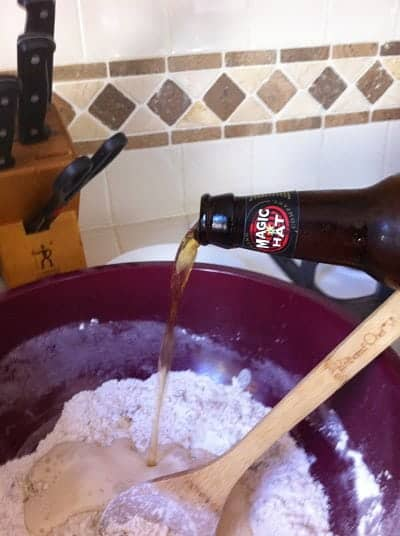Pouring Magic Hat Craft Beer