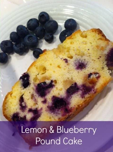 Lemon Blue Poundcake