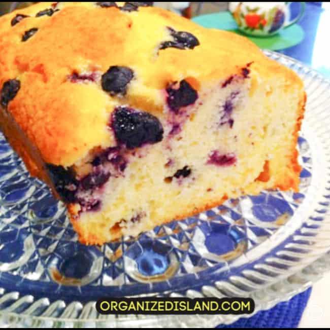Lemon Blueberry pound cake recipe