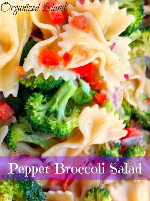 Pepper Broccoli Salad #barbacue #pasta #salad