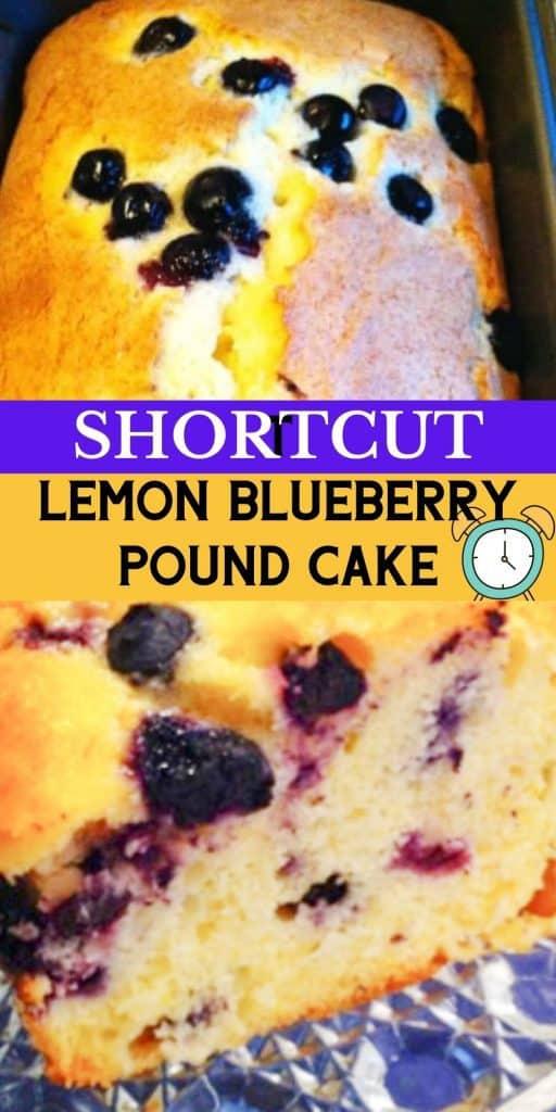 Quick Lemon Blueberry Pound Cake