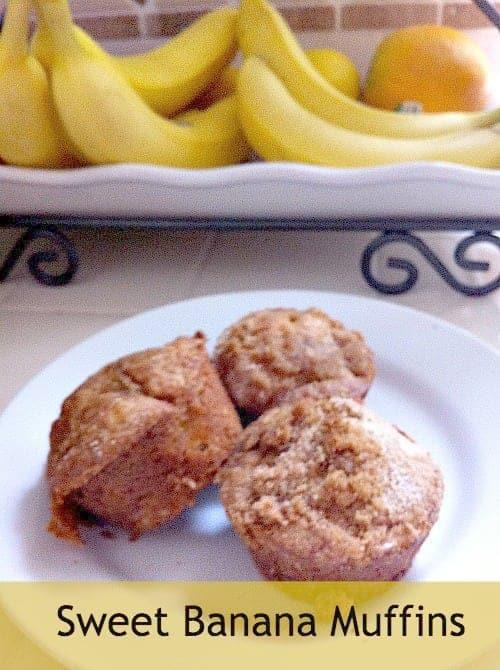 Sweet Banana Muffins