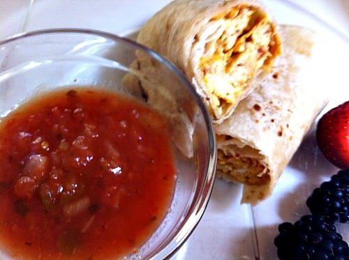 Breakfast-burritos from www.organizedisland.com #breakfast #Burritos
