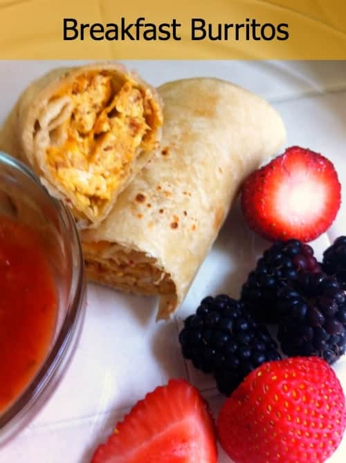 Easy-Breakfast-Burritos from Organized Island #breakfast #burritos