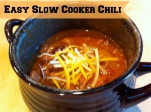 20+ Easy Instant Pot and Slow Cooker Soups -Easy-Slow-Cooker-Chili