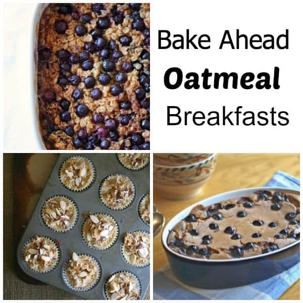 Bake Ahead Oatmeal Breakfasts