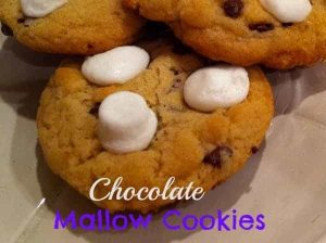 Chocolate Mallow Cookies - A fun way to add in to a chocolate chip cookie from Organized Island