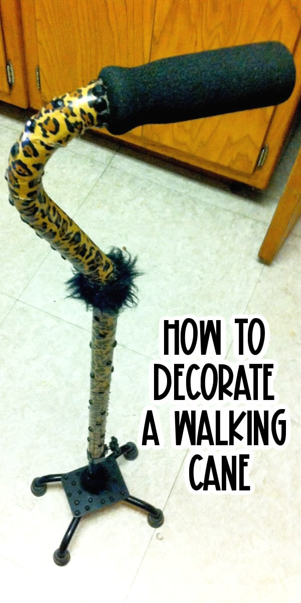 Decorating a walking cane