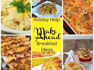 Make Ahead Breakfasts