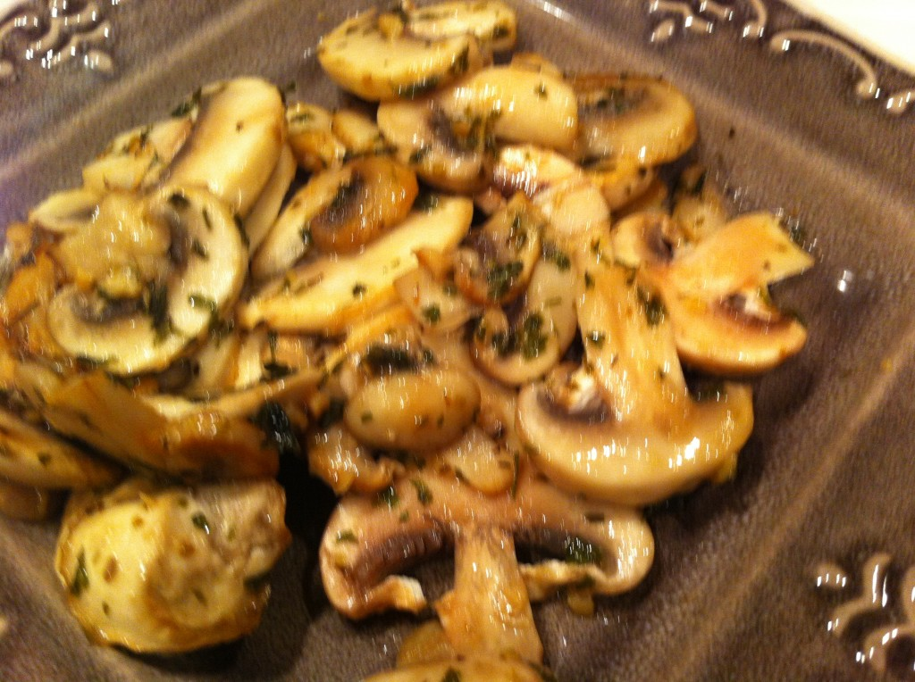 Mushrooms in Butter and Basil