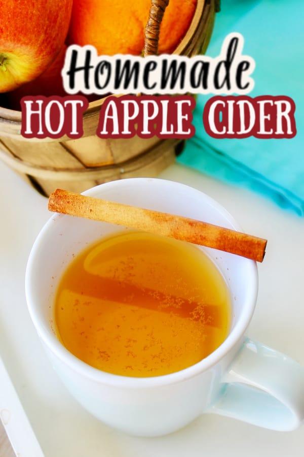 homemade hot apple cider