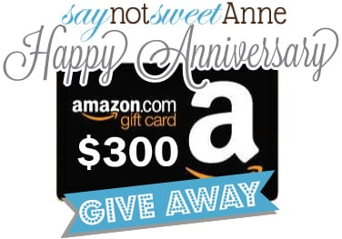 Why I Like Blogging and Celebrating With Say Not Sweet Anne