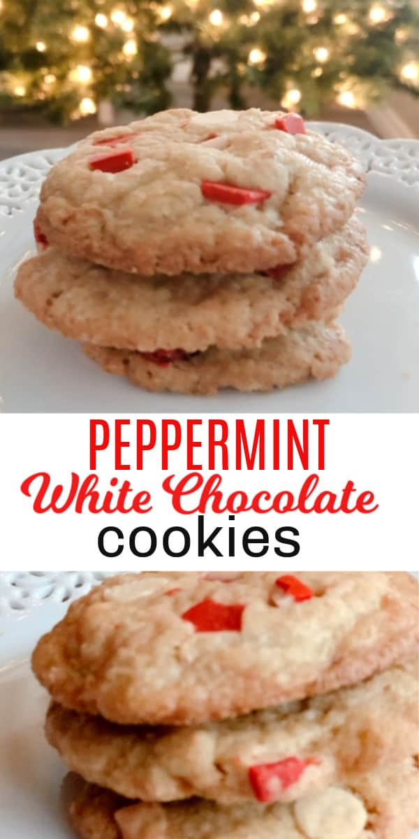 Peppermint White Chocolate christmas cookies