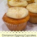 Eggnog Cupcakes with Cinnamon Cream Frosting