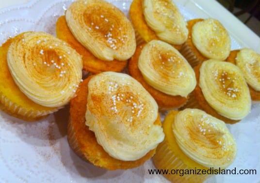 Eggnog Cupcakes made with Cake Mix   Organized Island